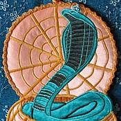 Для дома и интерьера ручной работы. Ярмарка Мастеров - ручная работа Подставка под горячее Королевская кобра. Handmade.