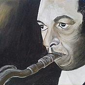 Картины и панно handmade. Livemaster - original item Painting on canvas. Musician. John Coltrane.. Handmade.