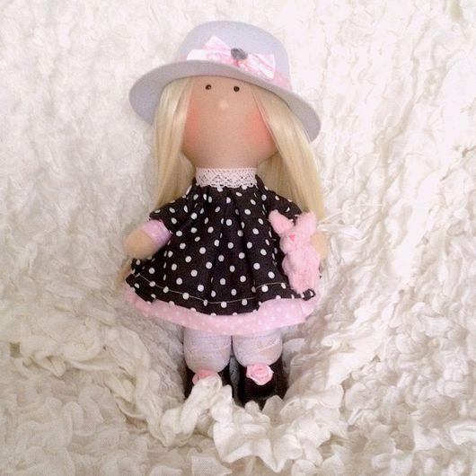 """Коллекционные куклы ручной работы. Ярмарка Мастеров - ручная работа. Купить Куколка"""" Карина""""30см. Handmade. Чёрно-белый, кукла интерьерная"""