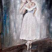 """Картины и панно ручной работы. Ярмарка Мастеров - ручная работа Картина маслом""""Балерина""""(резерв). Handmade."""