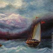 Картины и панно ручной работы. Ярмарка Мастеров - ручная работа Картина маслом Бушующее море. Handmade.