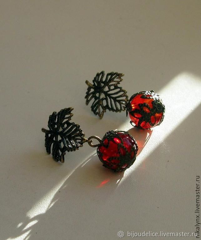 "Earrings ""Autumn"", Earrings, St. Petersburg,  Фото №1"