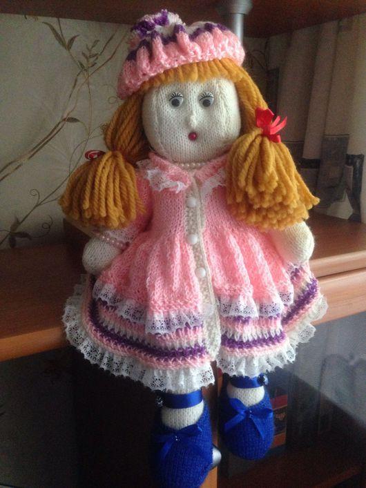 Человечки ручной работы. Ярмарка Мастеров - ручная работа. Купить Вязанная кукла Мариша. Handmade. Шерсть 100%, бусины, бисер