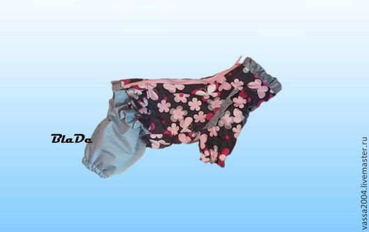 """Одежда для собак, ручной работы. Ярмарка Мастеров - ручная работа. Купить Дождевик """" Бабочки """". Handmade. Серый"""