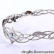 Украшения handmade. Livemaster - original item Crown with blue Topaz. Handmade.
