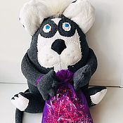 Мягкие игрушки ручной работы. Ярмарка Мастеров - ручная работа Мягкие игрушки: Крысеныш с мешком подарков. Handmade.