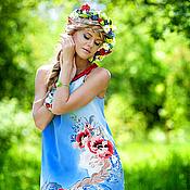 Одежда ручной работы. Ярмарка Мастеров - ручная работа Девушка поля, ручная роспись. Handmade.