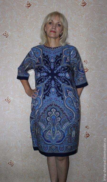 Платья ручной работы. Ярмарка Мастеров - ручная работа. Купить Платье Испанское О-силуэта. Handmade. Синий, шерсть 100%