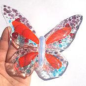Для дома и интерьера ручной работы. Ярмарка Мастеров - ручная работа Бабочка фьюзинг. Handmade.
