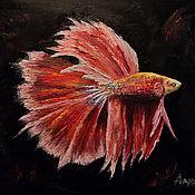 Картины и панно ручной работы. Ярмарка Мастеров - ручная работа Красная рыбка. Handmade.