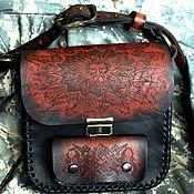 Русский стиль ручной работы. Ярмарка Мастеров - ручная работа кожаная сумка ЯРИЛО. Handmade.