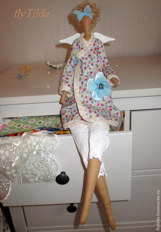 """Куклы Тильды ручной работы. Ярмарка Мастеров - ручная работа. Купить Кукла Тильда """"Домашний ангел"""". Handmade. Голубой"""