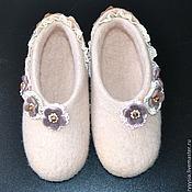 """Обувь ручной работы. Ярмарка Мастеров - ручная работа тапочки женские """"романтика"""". Handmade."""