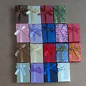 Коробки ручной работы. Ярмарка Мастеров - ручная работа Подарочная упаковка для брошей, кулонов, комплектов, сережек, колец. Handmade.