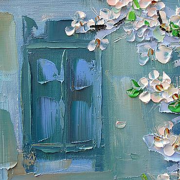 Картины и панно ручной работы. Ярмарка Мастеров - ручная работа Картина маслом Пора цветения. Handmade.