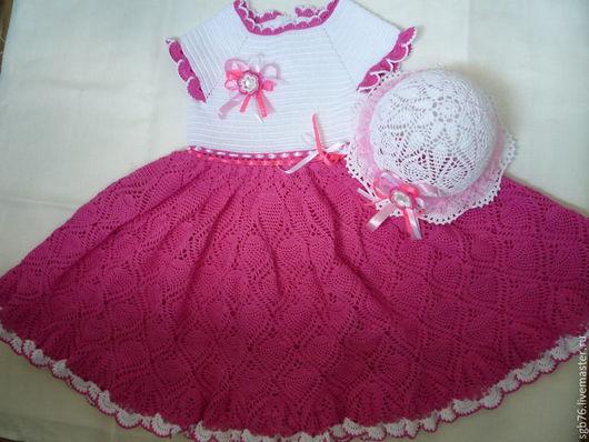 """Одежда для девочек, ручной работы. Ярмарка Мастеров - ручная работа. Купить Детский комплект: платье  """"Принцесса"""" и шляпка. Handmade. Разноцветный"""