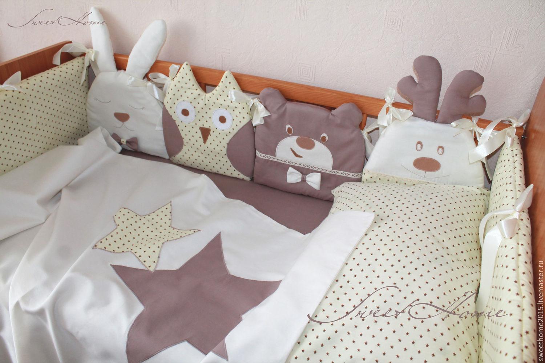 Бортики домики в кроватку 17