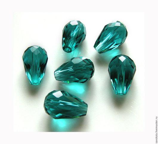 Бусины капля  11 x 8 мм Шлифованные, стеклянные, имитация кристалла