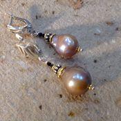 Украшения handmade. Livemaster - original item Silver earrings with pearls
