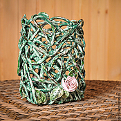 Для дома и интерьера handmade. Livemaster - original item Vase Climbing rose. Handmade.