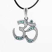 Украшения handmade. Livemaster - original item Ohm pendant sterling silver. Handmade.