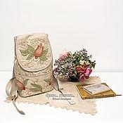 """Рюкзаки ручной работы. Ярмарка Мастеров - ручная работа """"Разнотравие"""". Городской женский рюкзак. Эко стиль. Handmade."""