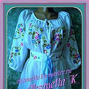 Одежда handmade. Livemaster - original item Tunic-embroidered summer