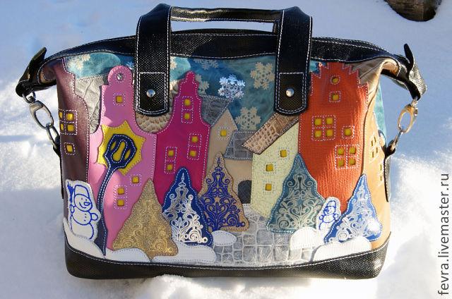 "Сумка "" Вечер Рождества"", Классическая сумка, Москва,  Фото №1"