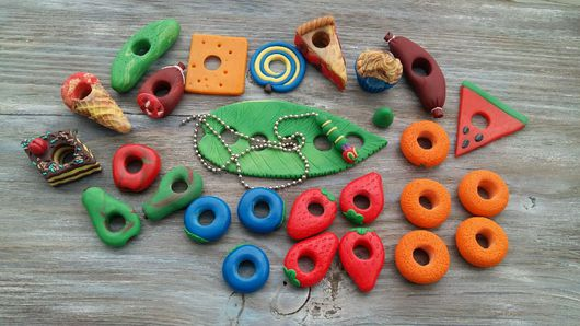 Развивающие игрушки ручной работы. Ярмарка Мастеров - ручная работа. Купить Набор по мотивам книги Очень голодная гусеница. Handmade.