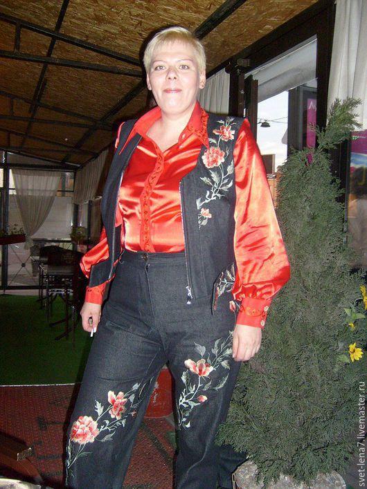 Костюмы ручной работы. Ярмарка Мастеров - ручная работа. Купить Яркие вариации.. Handmade. Комбинированный, женская одежда, Джинсовая ткань