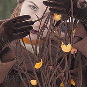 Аксессуары ручной работы. Ярмарка Мастеров - ручная работа Шарфик с кистями ажурный 16001. Handmade.