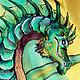 Футболки, майки ручной работы. Ярмарка Мастеров - ручная работа. Купить Green Dragon - Зеленый Дракон - футболка. Handmade. Дракон