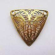 Винтаж handmade. Livemaster - original item Brooch vintage: Openwork brooch in the Art Nouveau style. Handmade.