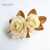 handmade. Livemaster - original item Pearl rose. polymer clay.. Handmade.