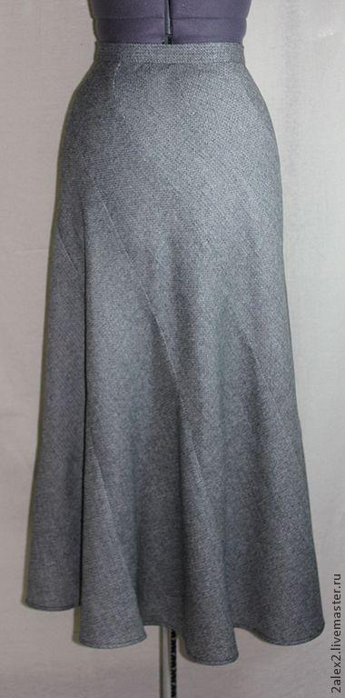 Юбки ручной работы. Ярмарка Мастеров - ручная работа. Купить юбка шерстяная длинная. Handmade. Серый, длинная, осень, распродажа