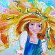 Фантазийные сюжеты ручной работы. Заказать «Детство», картина маслом. Светлана Валеева. Ярмарка Мастеров. Картина для интерьера, подарок женщине