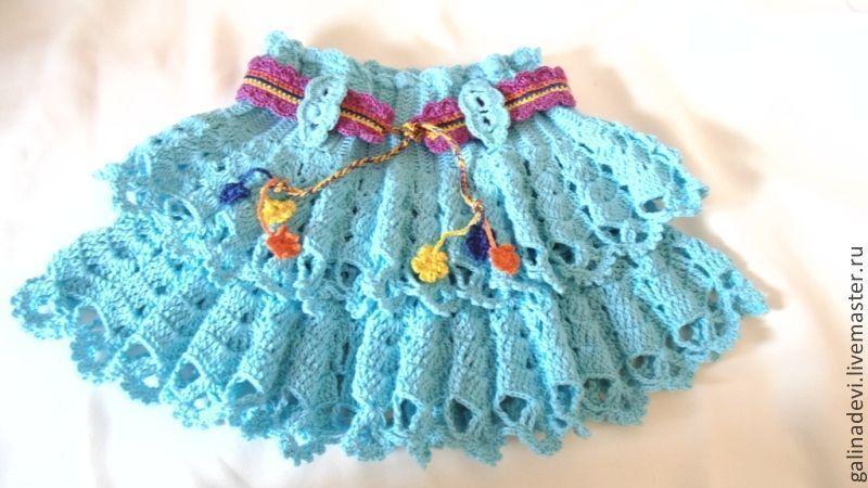 Вязание для девочек юбок с рюшами