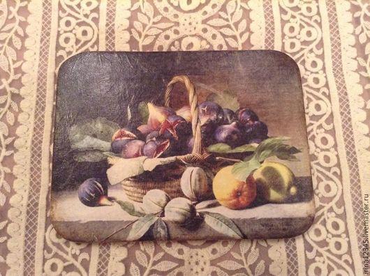 Кухня ручной работы. Ярмарка Мастеров - ручная работа. Купить Корзина с инжиром. Handmade. Инжир, кухня, Декупаж, акриловый лак