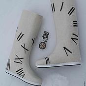 """Обувь ручной работы. Ярмарка Мастеров - ручная работа Валенки  """"Течение времени"""". Handmade."""
