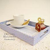"""Для дома и интерьера ручной работы. Ярмарка Мастеров - ручная работа Поднос для чая """"Завтрак в постель"""".. Handmade."""