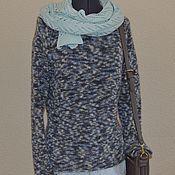Одежда ручной работы. Ярмарка Мастеров - ручная работа Пуловер теплый,  пестрый, из итальянского мохера. Handmade.