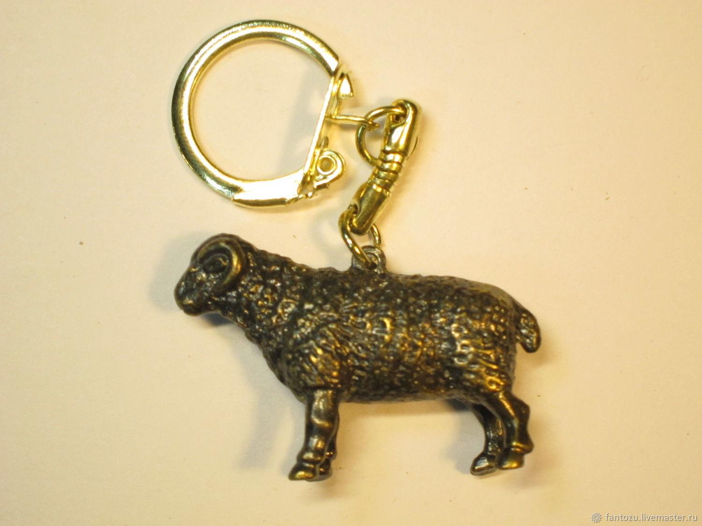 Brass keychain Zodiac sign Aries, Key chain, Yaroslavl,  Фото №1