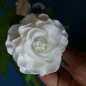 """Работы для детей, ручной работы. Ярмарка Мастеров - ручная работа Резиночки для волос """"Белые розы"""". Handmade."""