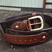 Аксессуары handmade. Livemaster - original item Ranger leather belt, 70mm. Handmade.