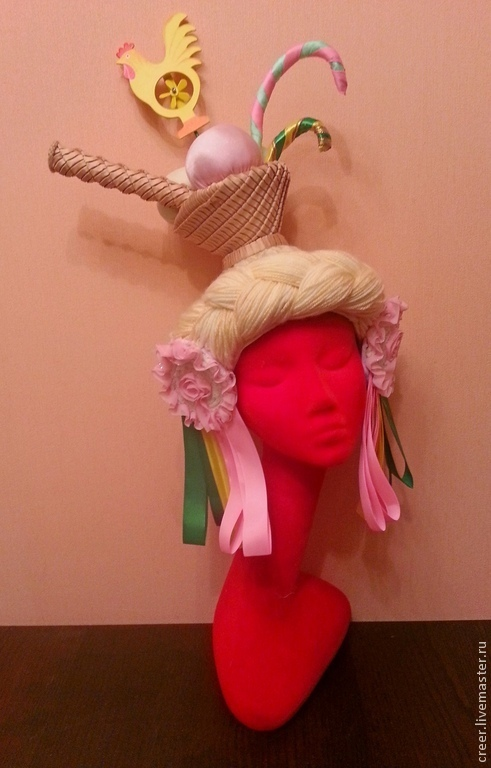 """Шляпы ручной работы. Ярмарка Мастеров - ручная работа. Купить Шляпка"""" Крем-Брюле"""". Handmade. Дизайнерская шляпка, шляпка из шерсти"""
