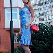 Одежда ручной работы. Ярмарка Мастеров - ручная работа Платье-футляр на пуговицах. Handmade.