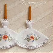 Свадебный салон ручной работы. Ярмарка Мастеров - ручная работа Салфетки для свечей Маки. Handmade.