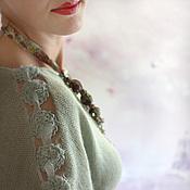 """Одежда ручной работы. Ярмарка Мастеров - ручная работа Туника из ангоры """"Зеленый чай"""". Handmade."""