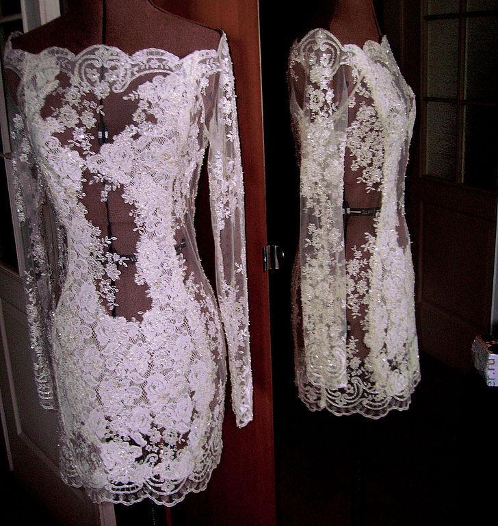 Платья свадебные с кружевом сшить