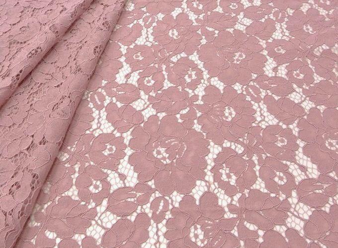 Шитье ручной работы. Ярмарка Мастеров - ручная работа. Купить Ткань кружевное полотно кордовое  розовое. Handmade. Свадебное платье